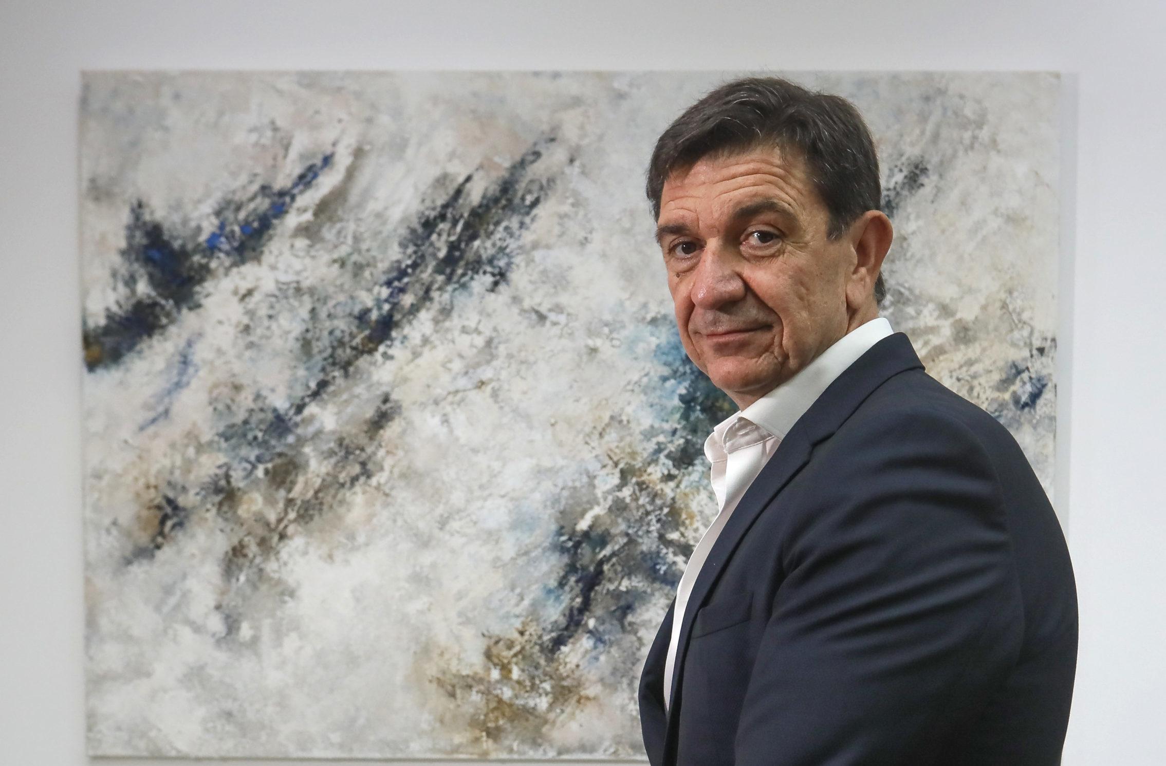Juan Antonio Acedo, presidente y consejero delegado de Urbas, en la sede del grupo en Madrid